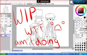 WIP - Gentlemen. by sariichii