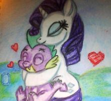 Rarity loves her spikey wikey by mistresscarrie