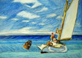 Edward Hopper:Ground Swell by efrain-elijah