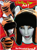 Chaffey Tiger Hat by Butterscotch-Llama