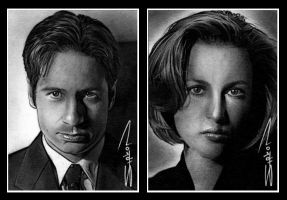 Scully and Mulder by RandySiplon