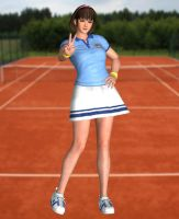 Hitomi(Sport) Dead or Alive 5 Ultimate by XKamsonX