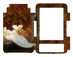 Kindle 3 Skin Cover - Autumn Peacock by Everild-Wolfden