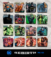 DC Rebirth Icon Pack v7 (Revised) by piebytwo