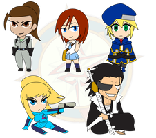 Assorted Chibis - Set 14 by Dragon-FangX