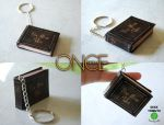 Once upon a time book keychain by Ragamuffyn