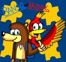 Banjo And Kazooie by conkeronine