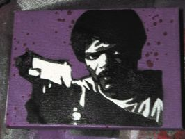 Jules - Pulp Fiction - Stencil by moon-glaze