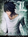 L Lawliet(Death Note) by tetsuok9999
