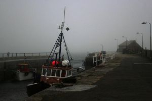 Kettletoft Harbour in the Fog by barefootliam