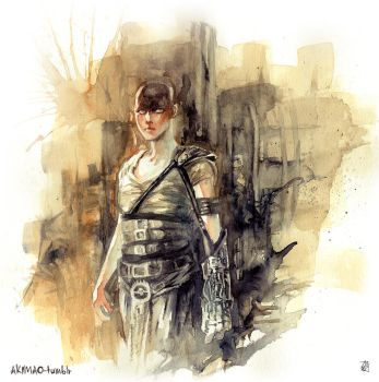 Furiosa in Watercolor by AkiMao