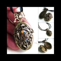 Calla Lily Locket by JuleeMClark