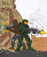 Masterchief-isaac teamup WIP 5 by wolf117M