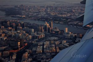 Dubai Creek from plane by amirajuli
