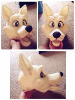 Fursuit head progress  by emeowji