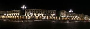 180 degrees of Piazza Vittorio by SilentCloud
