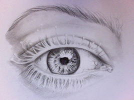The eye pencil drawing by Psunna