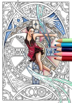 Rika Hongo Coloring Page by Akoustam5