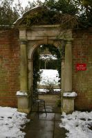 Winter Gate and a Chair by Eiande