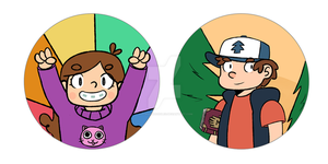 Gravity Falls Button Set by WaywardDoodles