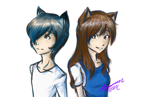 Wolf Children: Ame and Yuki by Karramon