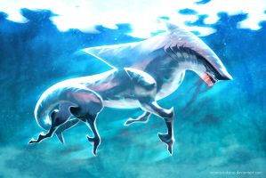Shark Bait - Speedpaint by inanna-nakano