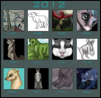 Art Summary 2012 - Nothing has changed D: by Kadinskies