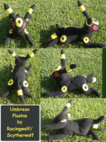 Laying Umbreon Plush by racingwolf