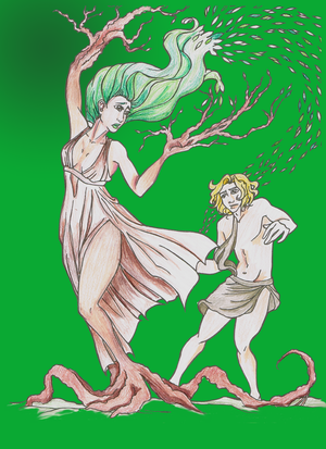 Apollo and Daphne: Colored