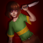 In Control - Chara ( Undertale Fanart) by Glamra