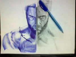 ballpoint pen and pencil by cLoELaLi11