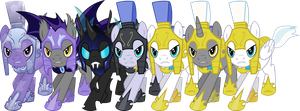 My Little Pony: Armored Guard Pack (EDIT) by TheShadowStone