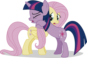 Twilight and Fluttershy by j5a4