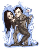 Morticia and Gomez by raevynewings