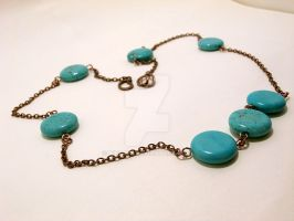 Turquoise Disc Necklace by Kindori