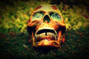 Airbrushed Skull by CandyCherep