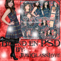 +Blend en PSD Stay Strong by JustGlassLove