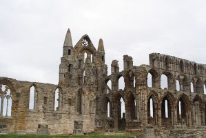 Whitby Abbey-1 background stock by 6lell9-stock