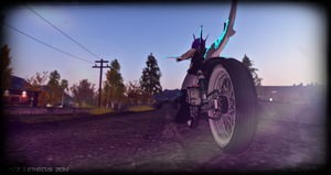 Jayce -Sunrise Ride- Second Life by Jace-Lethecus