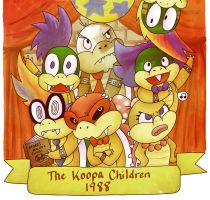 the koopa children, 1988 by heartpuncher