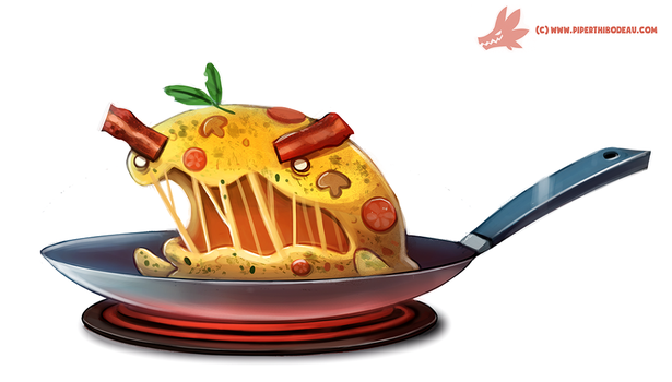 Daily Paint #1143. Nomlette by Cryptid-Creations