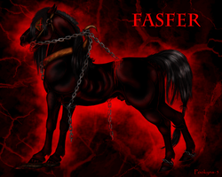 Fasfer demon horse by pookyhorse