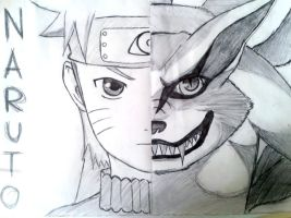Naruto + kyuubi by d0ubl2