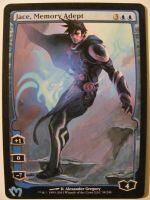 Mtg alter Jace  Memory Adept  Jace Architect Of Thought Altered