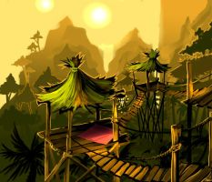 Fantasy Jungle Huts by Duivelsdraak