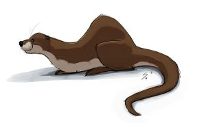 A Resting Otter by Temiree