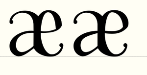 New ae ligatures by Weegraphicsman