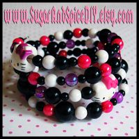 Hello Kitty Rave Bracelet by SugarAndSpiceDIY