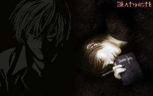 Death Note Wallpaper - Kira by frey84