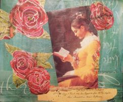 Girl Reading by KanchanCollage